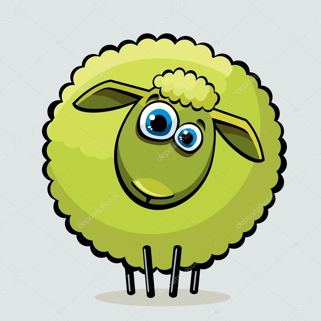 Cartone animato pecore — vettoriali stock natuska