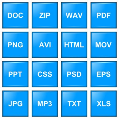 File extension icon series