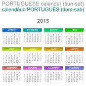 2015 kalendář portugalského jazyka verze sun - So