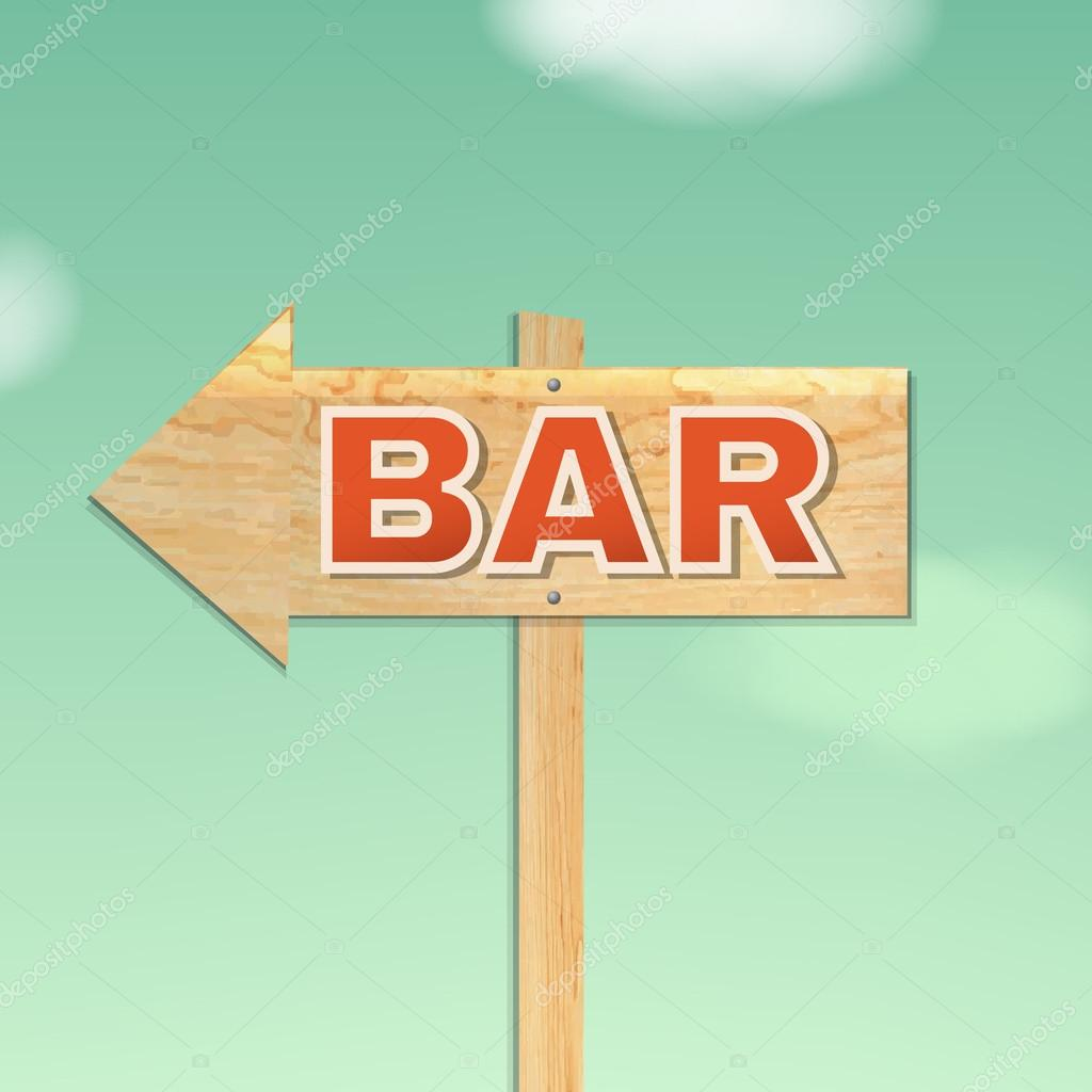 Vintage Beach Bar Sign