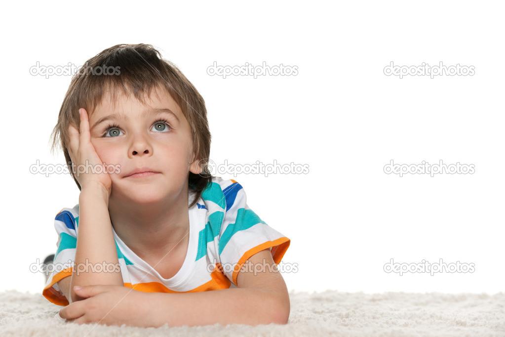 foto de Imágenes: niño pensativo niño pensativo Foto de stock © SergiyN #34795569