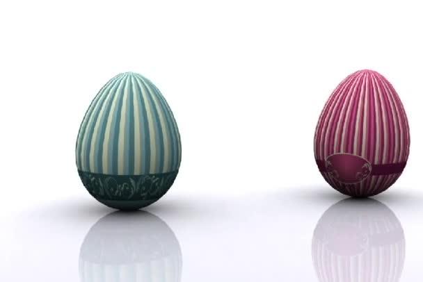 famiglia delle uova decorate