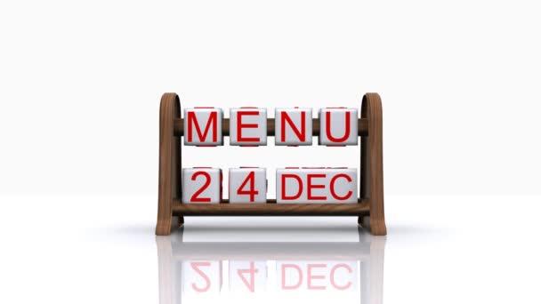 denní menu vánoční