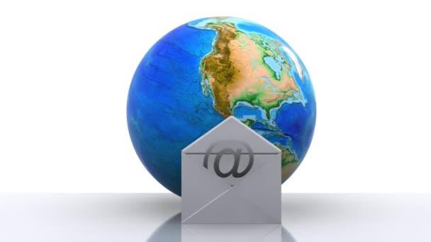 Welt mit e-Mail-Symbol