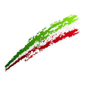 Fotografia progettazione grafica con bandiera italiana