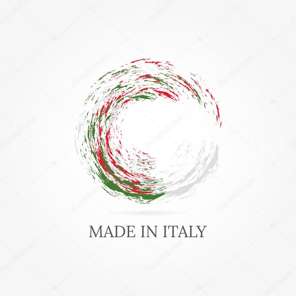 Graphic design with Italian flag