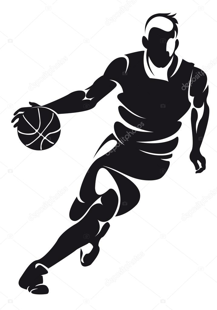 basketball player silhouette stock vector chebanova 22828844 rh depositphotos com basketball player vector free basketball player victory from tacoma academy