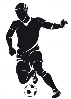 Vector football (soccer) player silhouette