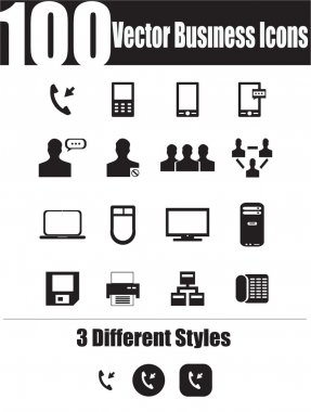 100 Vector Business Icons