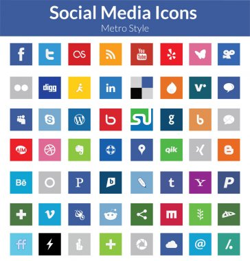 Social Media Icons (Metro Style)