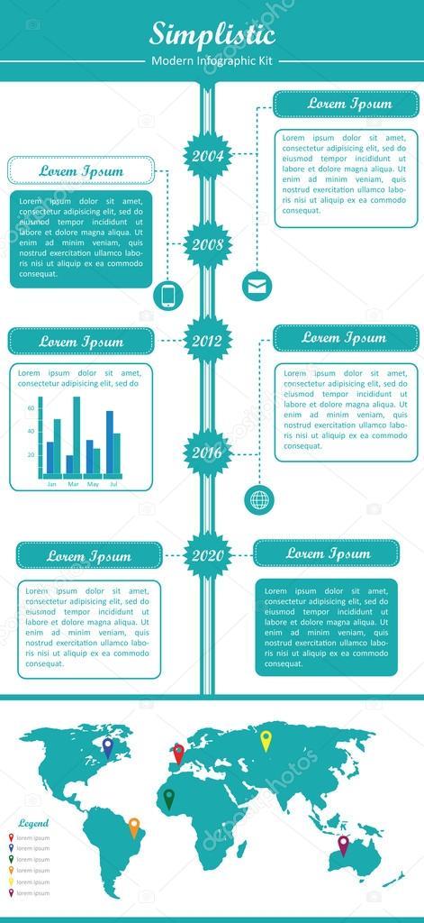 simplista - infografía moderna kit - 1 — Vector de stock ...
