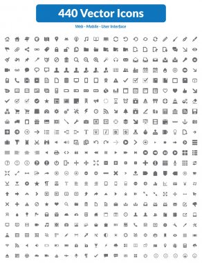 440 Vector Icons (Dark Set)