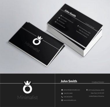 This is a modern, clean and elegant 2 sided business card. Perfect for any type of business. Excellent for professional and personal usage. It is easy to change the colors and the text. Print ready, CMYK, 300 DPI. clip art vector