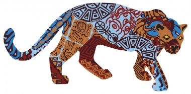 Jaguar in the ethnic pattern of Indians