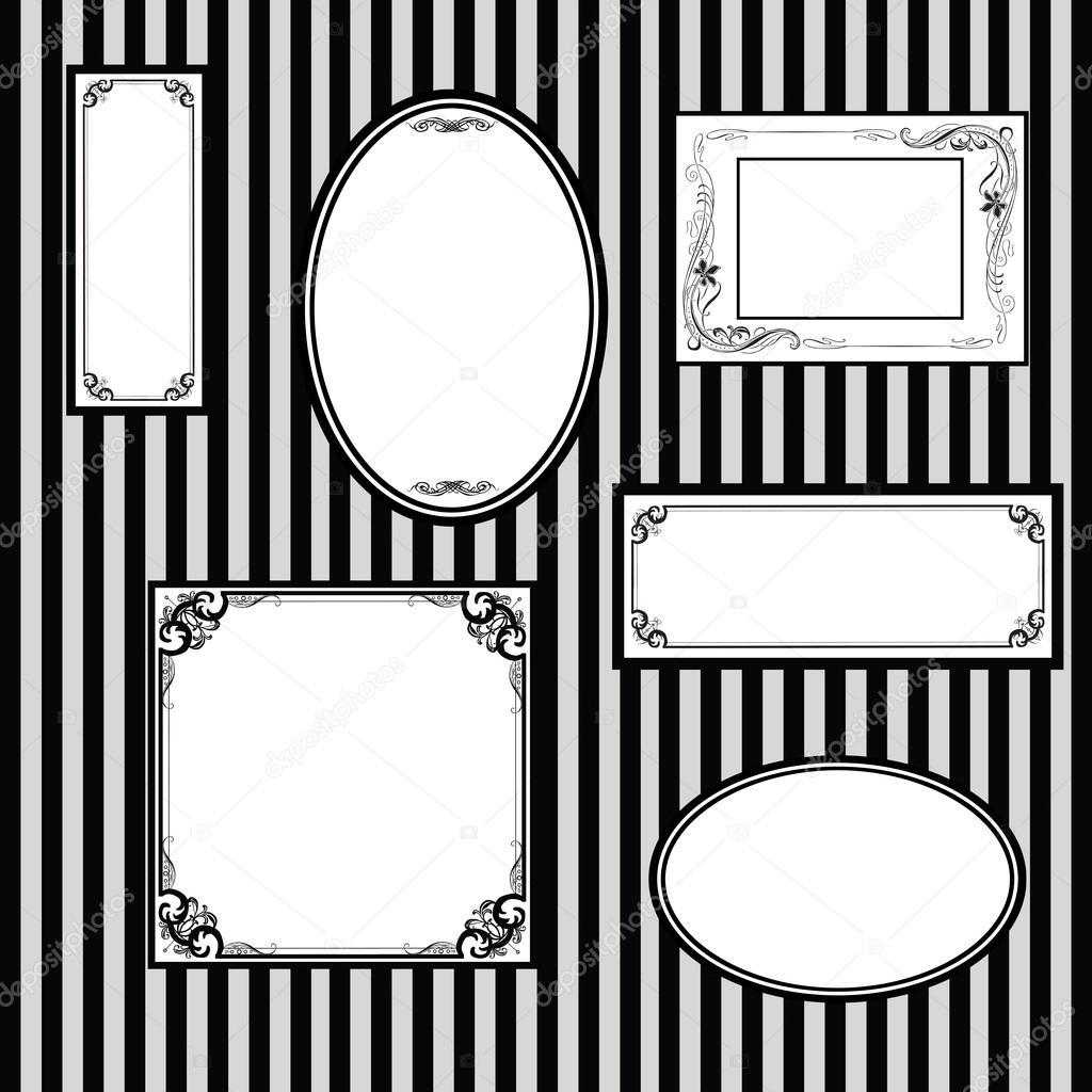pared con marcos para cuadros — Vector de stock © roman4 #21621001