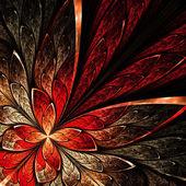 krásný fraktální květina v žluté a červené