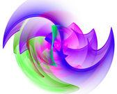 vícebarevná fraktální vzor na bílém pozadí