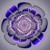 Beautiful purple flower on gray background.