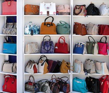 Chisinau, Moldova, May 25, leather goods exhibition, handbags, M