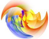vícebarevná fraktální vzor na bílém podkladu. počítač