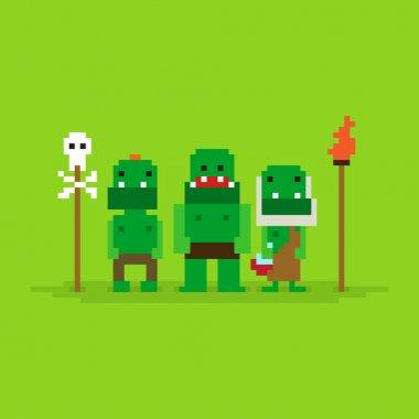 Pixel Art Orcs