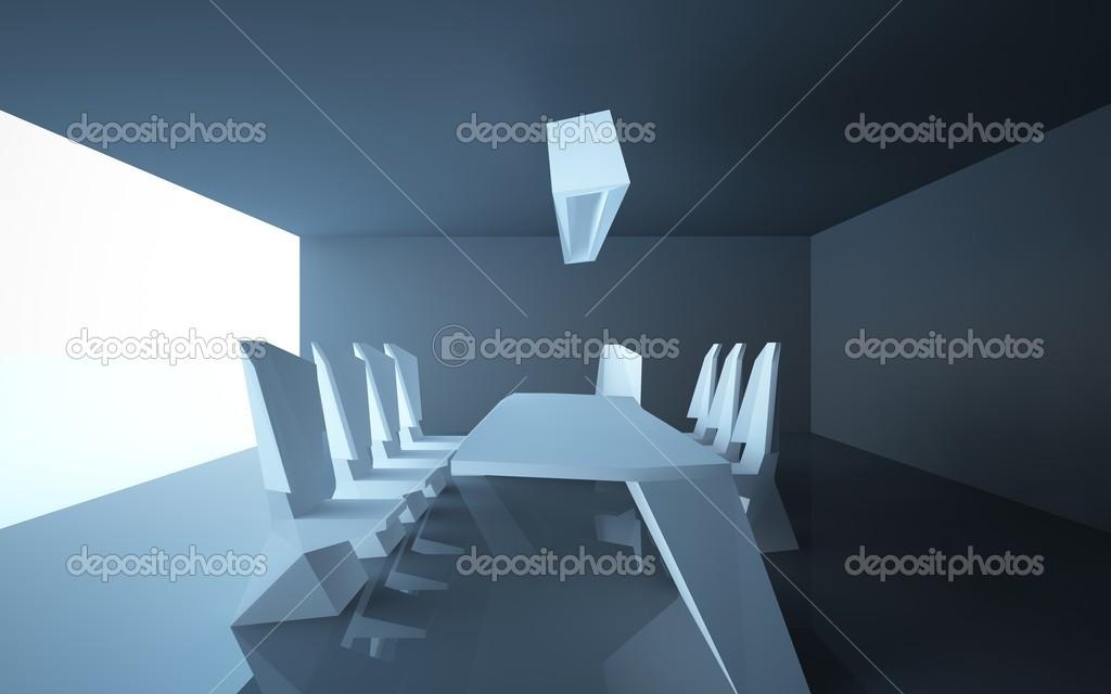 abstrakt Architektur interior Restaurants. Esszimmer ist auf dem ...