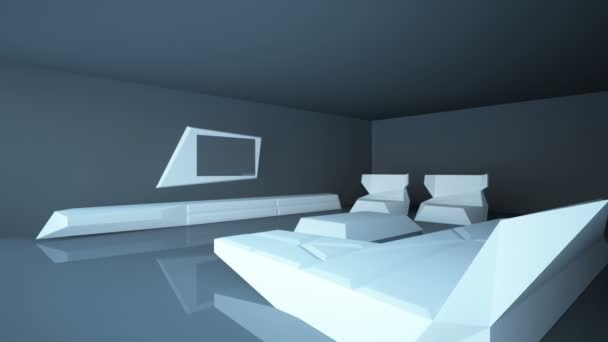 Abstract architectural interior living room. Living room room is up to date style with the use of composite materials.