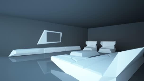 abstraktní architektonické interiéru obývacího pokoje. obývací pokoj je aktuální styl s využitím kompozitních materiálů
