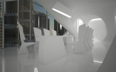 A series of abstract images of the interior of the penthouse. Interior furnished with exclusive designer furniture.