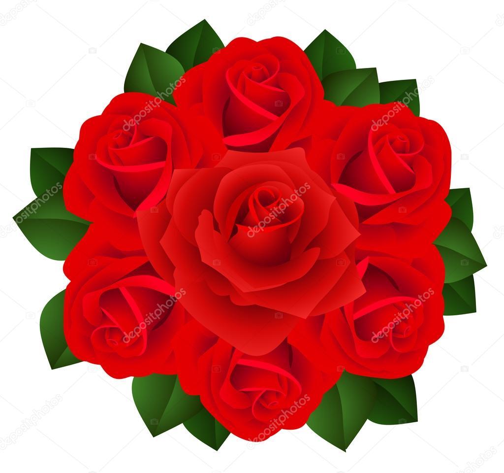 赤いバラの花束ベクトル イラスト ストックベクター Naddya 13203182
