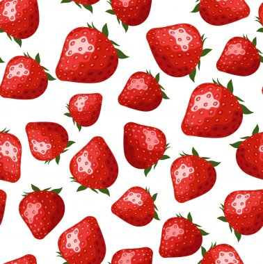 Seamless pattern with strawberries. Vector illustration.