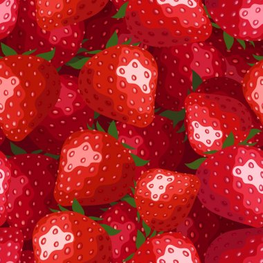 Seamless background with strawberries. Vector illustration.