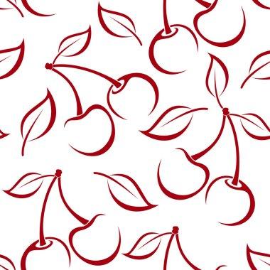 """Картина, постер, плакат, фотообои """"бесшовный фон с вишневыми силуэтами. векторная иллюстрация ."""", артикул 23144282"""