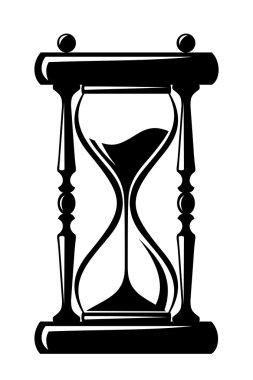 Hourglass. Vector black silhouette.