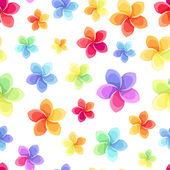Fotografie Seamless pattern with colorful flowers. Vector illustration.