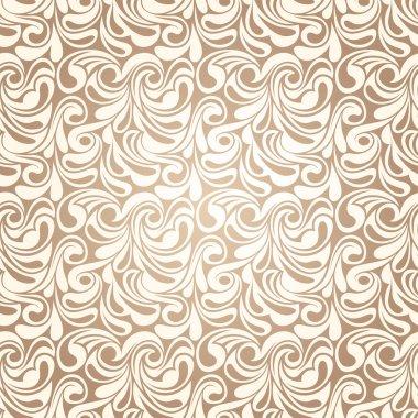 Abstract beige seamless pattern. Vector illustration.