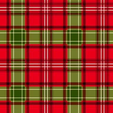 Christmas tartan. Vector seamless pattern.