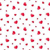 Fotografie nahtlose Muster mit roten Herzen. Vektor-illustration