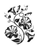 Fényképek mezei szulák fekete sziluettje. vektoros illusztráció