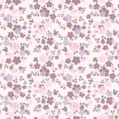 Seamless pattern with flowers. Vector illustration.
