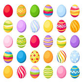Fotografie Easter colorful eggs. Vector illustration.