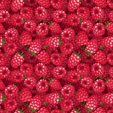 background with raspberry. Vector illustration.