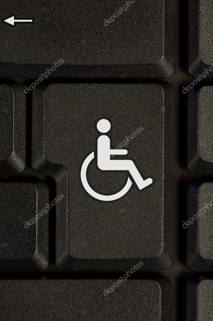 Symbol Of Disability On A Keyboard Stock Photo Packshot 20121005