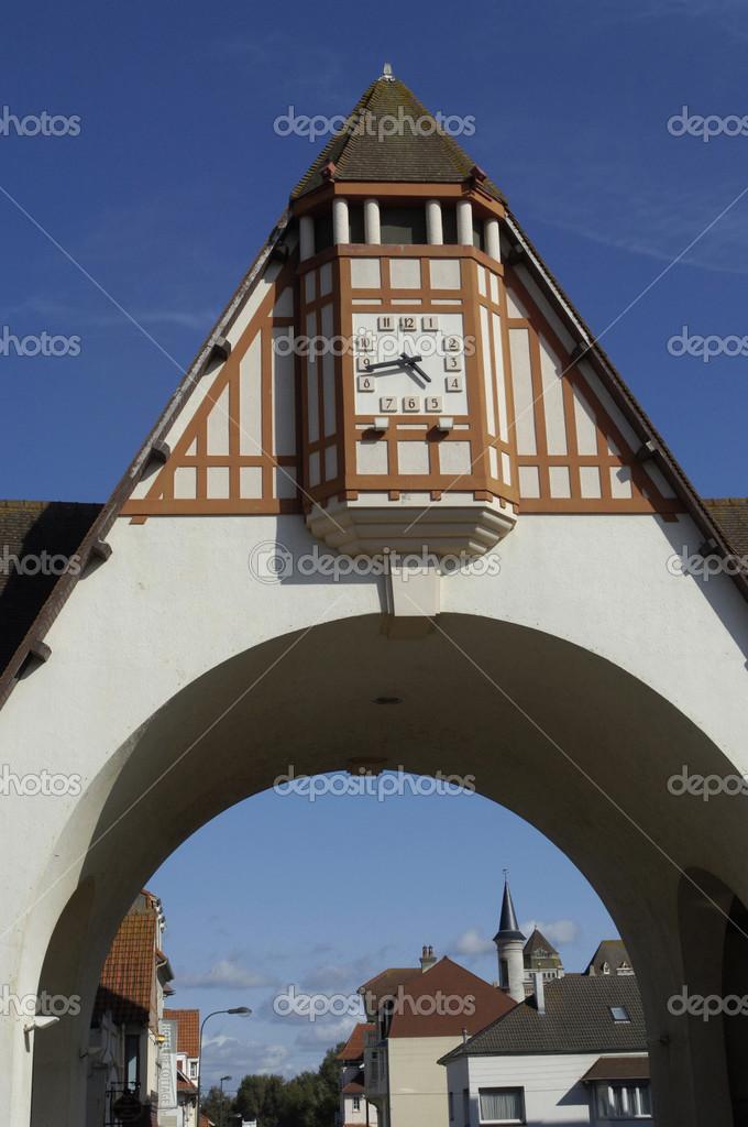covered market of Le Touquet Paris Plage in Nord Pas de Calais ...