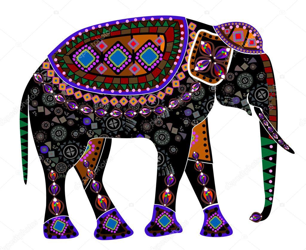 ethnic elephant stock vector yuliyakonyayeva 32126979. Black Bedroom Furniture Sets. Home Design Ideas