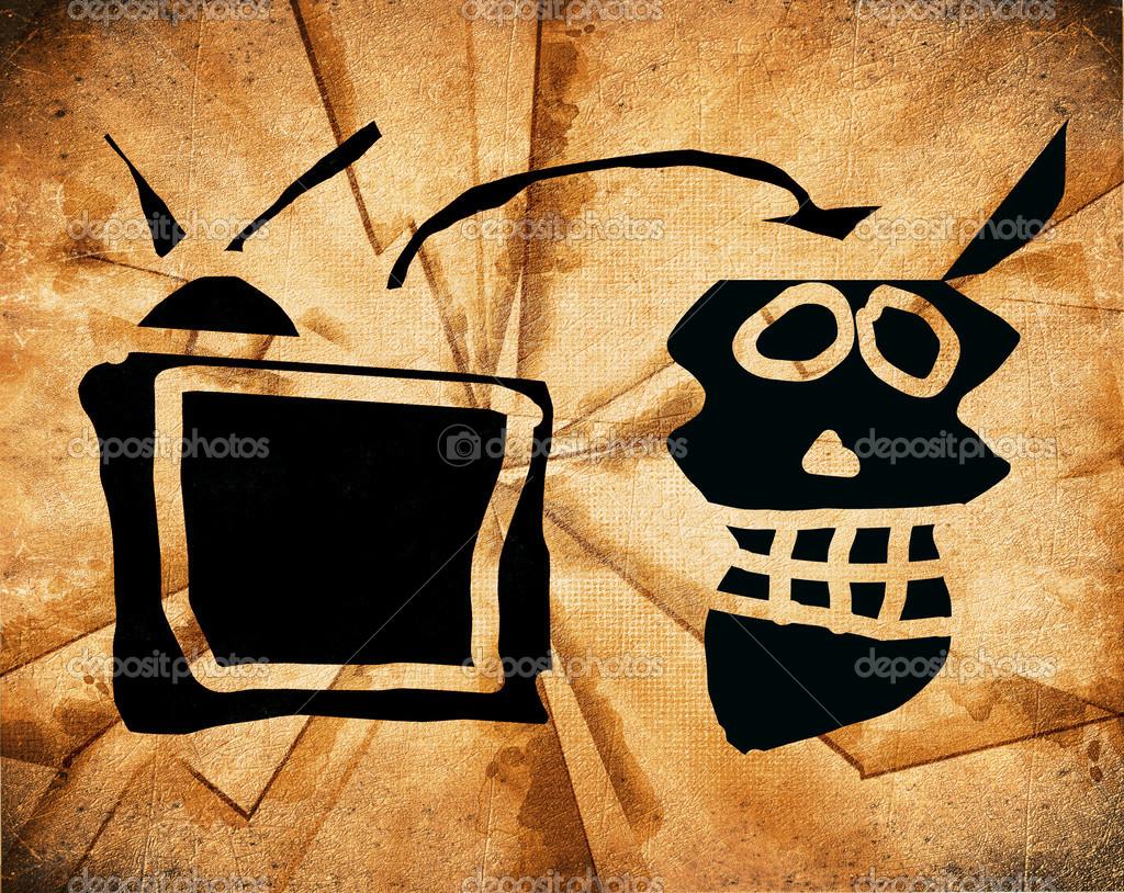 watching tv subliminal message concept — Stock Photo © lollok #42050951