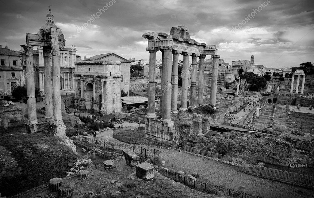 Cartolina foro romano in bianco e nero roma italia for Roma in bianco e nero