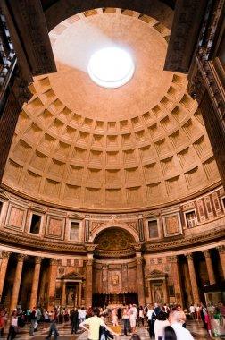 Entering on Pantheon at Roma - Italy