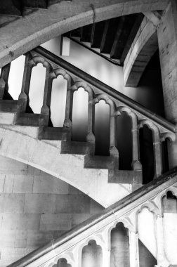 Stairs handrails inside Palais des Archeveques at Narbonne in Fr