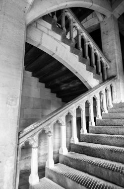 Stairs inside Palais des Archeveques at Narbonne in France